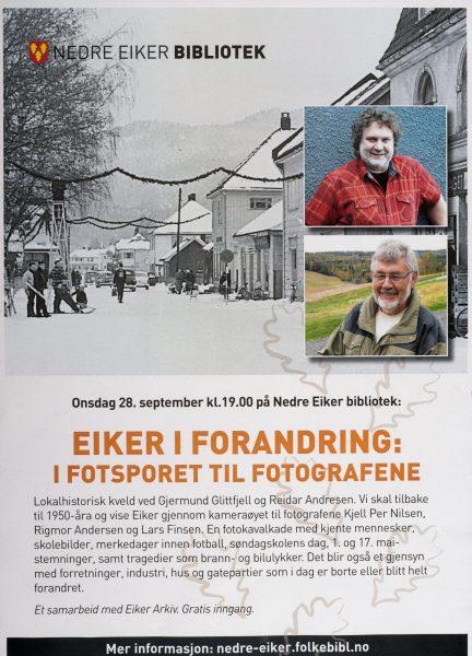 Eiker i forandring: I fotsporet til fotografene @ Nedre Eiker bibliotek | Buskerud | Norge