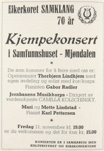 Samklang 70 års jubileum program