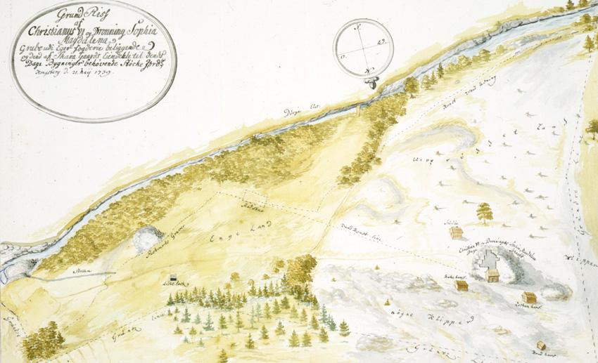 kart over konnerud Bergverksdrift på Eiker | Eiker Arkiv kart over konnerud