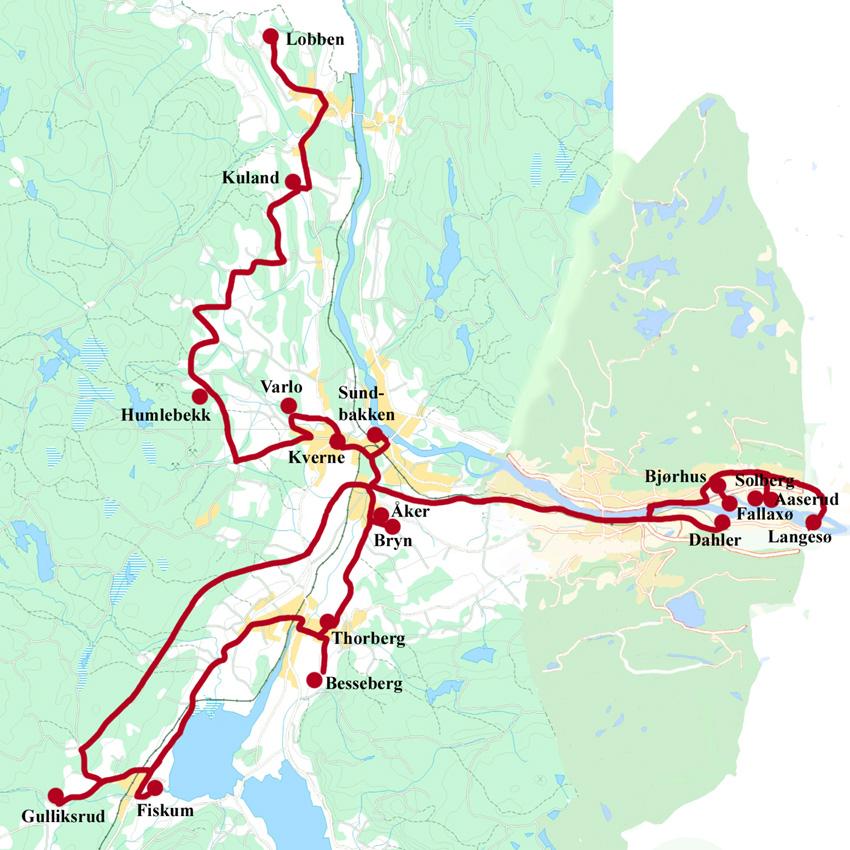 kart over nedre eiker Teglverkstur på Eiker | Eiker Arkiv kart over nedre eiker