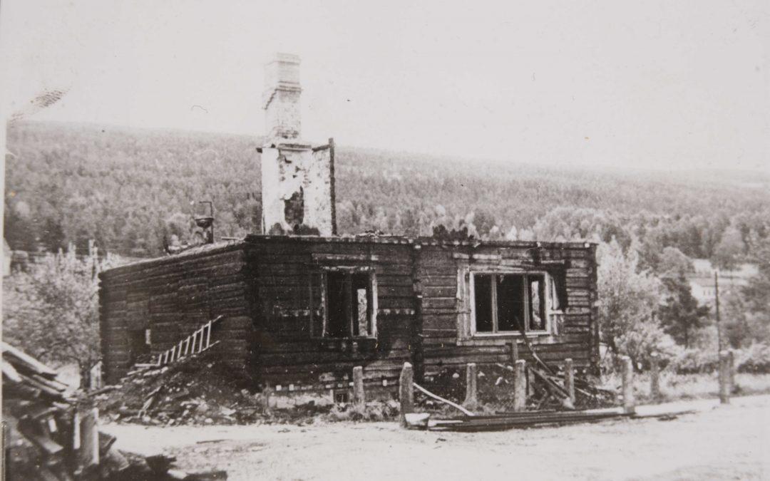 Storbrann i Solbergelva  natt til 25. juli 1955