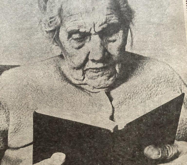 Hundreåring fra Nedre Eiker. Intervju i DT og BB 1969