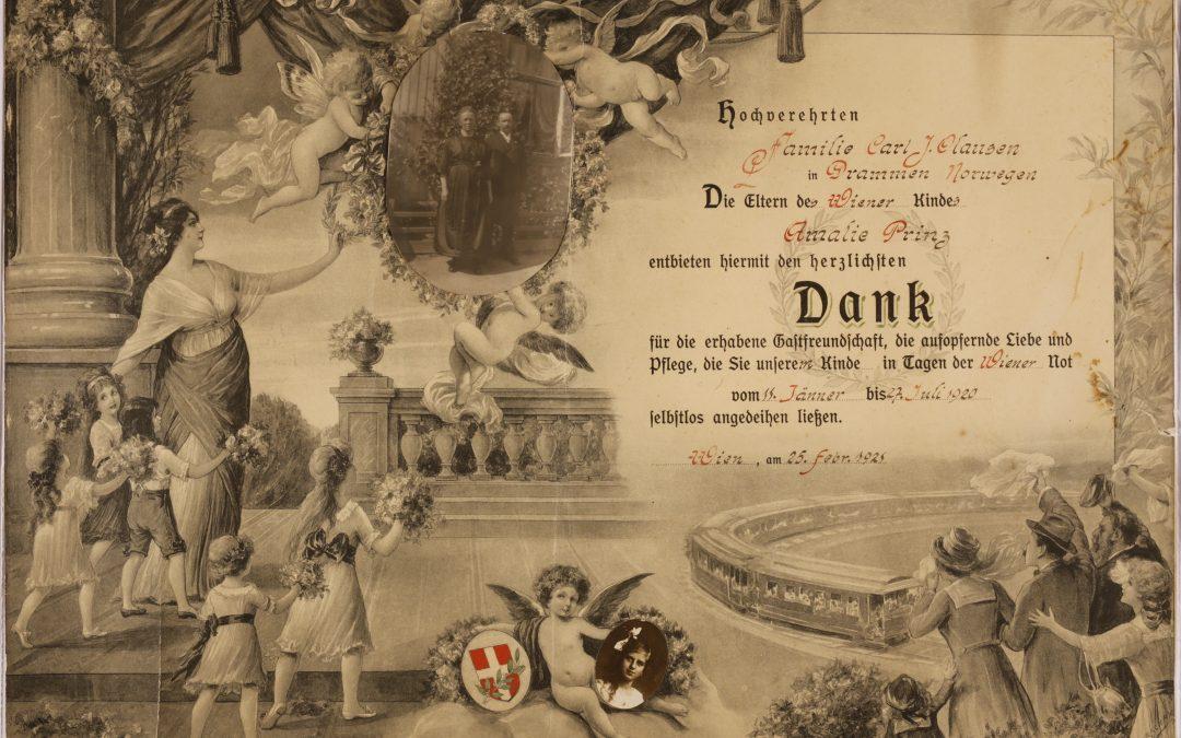 Wienerbarna og deres opphold i Drammen og Nedre Eiker i 1920