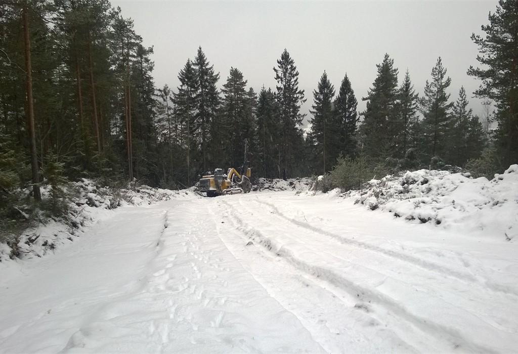 Gamleveien rensket og klargjort for sprengning jula 2014